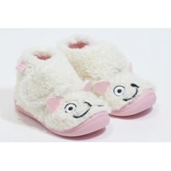 Pantufa menina ovelhinha com velcro