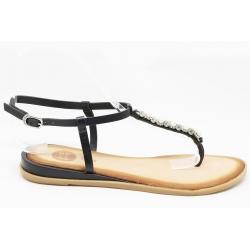 Sandálias enfiar o dedo com brilhantes GIOSEPPO