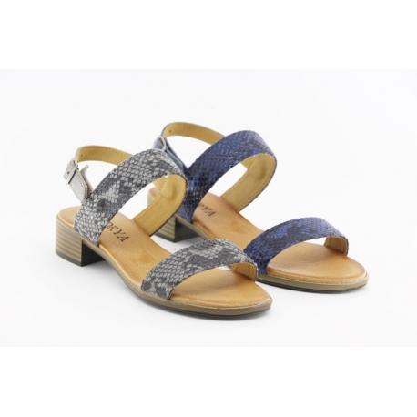 Sandália de salto baixo, palmilha de conforto de fabrico Nacional